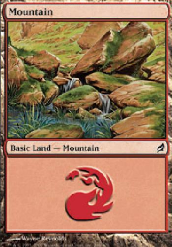 MOUNTAIN #296 BASIC LAND FOIL X4 4 4X Lorwyn MTG Magic the Gathering DJMagic